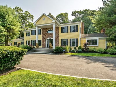 SOLD!  Oyster Bay Center Hall colonial on 2 acres with pool and tennis! lots of space withhome office and Gym